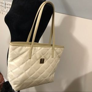 Auth MCM quilted Tote very clean inside.